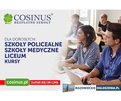 BEZPŁATNE szkoły dla dorosłych Cosinus Siedlce
